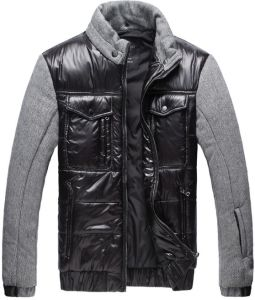 Men New Fashion Contrast Fabric Winter Jacket pictures & photos