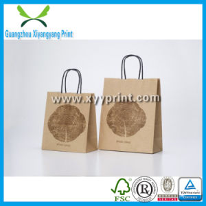 Custom Printing Flat Handle Kraft Paper Bag Price Wholesale pictures & photos