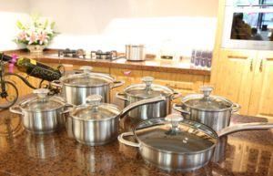 12PCS Stainless Steel Non-Stick Cookware Set Kitchenware (JL-0109)