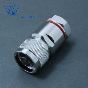"RF Coaxial N Male Plug Clamp Connector for 1/2"" Foam Feeder Cable"