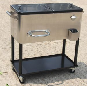 80 Qt Patio Cooler Made with Stainless Steel & China 80 Qt Patio Cooler Made with Stainless Steel - China Rolling ...