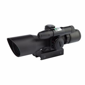 2.5-10X40 Dual Illuminated Riflescope Cut Sunshade with Green Laser pictures & photos