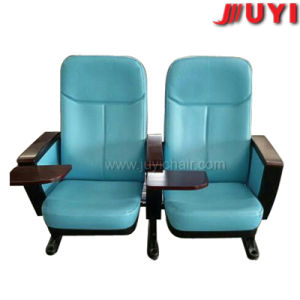 Jy-615 Room Modern Cover Fabric with Writing Tablet Folding Theater Chairs Interlocking Church Chair Theater Seats pictures & photos