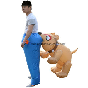 Halloween Party New Style Funny Cartoon Inflatable Dog Bite Costume