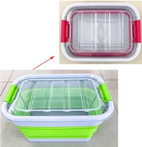 China 1020L No Wheel Folding Collapsible Home Storage Box Container