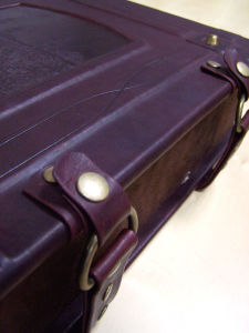 Real Leather Red Wine Box