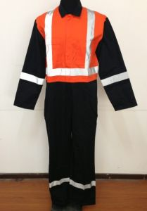 T/C Overall/Popular Simple Coverall/Safety Protect Workwear with Reflective Tape