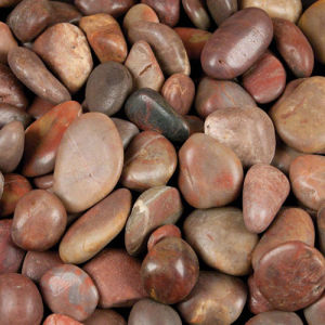 Factory Red Polished Garden Pebbles pictures & photos
