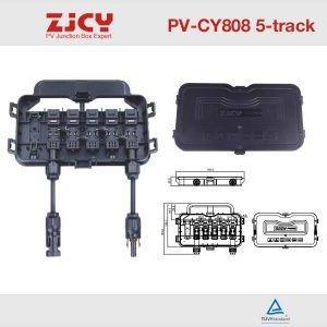 PV-Cy808-D 12A 5 Rail 4 Diodes Junction Box for Solar System