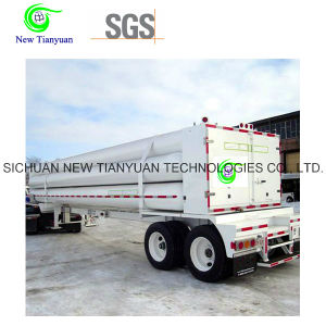 CNG Cylinder 8-Tube Semi Trailer for Gas Transportation