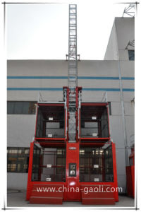 Gaoli Sc200/200 -2000kg Ce, GOST Approved 2 Ton Construction Elevator pictures & photos