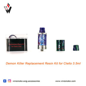 Demon Killer Resin Tube with Drip Tip Kit Suit for Cleito 3.5ml Ijust S Tfv8 Tfv8 Baby Melo III Melo III Mini with Resin Drip Tips