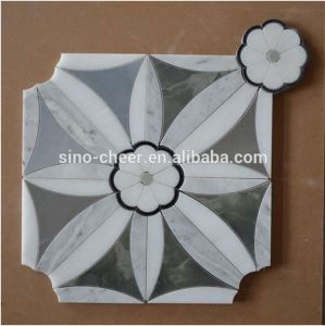 Building Material Waterjet Marble Mosaic Tile for Home Decoration