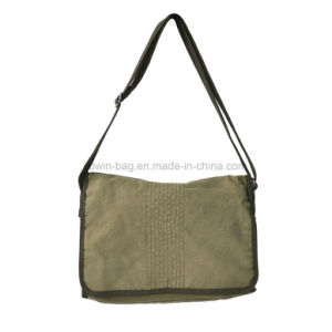 Vintage Cotton Canvas Made High Quality Military Crossbody Messenger Bag