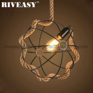 Home Indoor Lighting Hemp Rope Creative Hanging Pendant Lamp pictures & photos