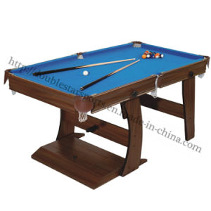 Foldable 5FT Pool Table with L Shape Leg Cheap Price pictures & photos