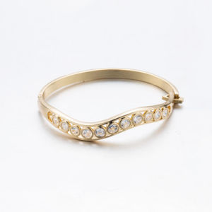 Rose Gold Plated Rhinestone Zircon Bangle pictures & photos