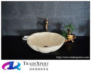 China Egyptian Cream Beige Marble Silvia Polished Washbasin Washbowl Bathroom Sink China Furniture Kitchen Cabinets