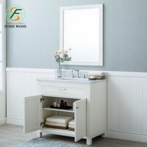 China Promote 36 Inch 2 Doors 1 Drawer Modern Bathroom Cabinet
