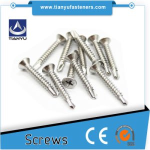 "#10 X 1-5/8"" 316 Stainless Steel Marine Grade Square Drive Deck Screws pictures & photos"