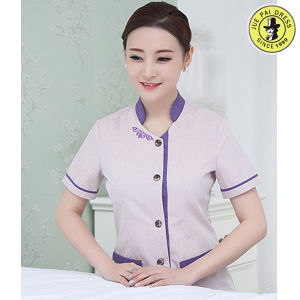 Wholesale Hotel Room Service Cleaning Staff Uniforms Restaurant Uniforms pictures & photos
