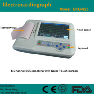 CE Approved Digital 6-Channel Color Touch Electrocardiograph ECG (EKG-923) -Fanny pictures & photos