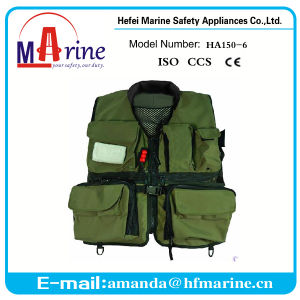 AUS APPROVED ADULTS KHAKI 150N OFFSHORE PFD INFLATABLE SAFETY BOAT LIFE JACKET
