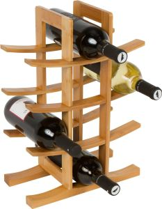 High Quality Kitchen Furniture Custom Bamboo Wine Rack Wholesale pictures & photos