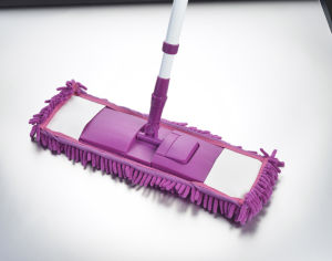 Telescopic Handle Chenille Microfiber Feather Flat Cleaning Mop (1002) pictures & photos