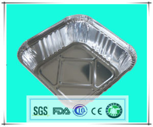 Hot Sale Square Aluminum Foil Tableware for Home Use pictures & photos