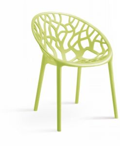 Mesh Shape Backrest Plastic Dining Chair pictures & photos