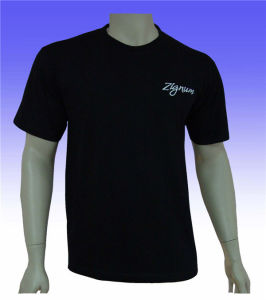 Men′s Black Polyester Golf T-Shirt with Custom Logo pictures & photos