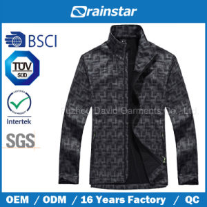 High-End Special Printed Softshell Jacket Without Hood