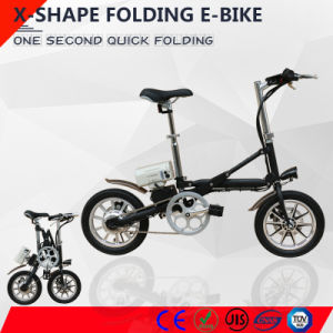 Aluminum Alloy Folding E-Bike with 36V Lithium Battery