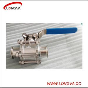 Stainless Steel Sanitary 3 Piece Full Port Tri Clover Clamp Ball Valve pictures & photos