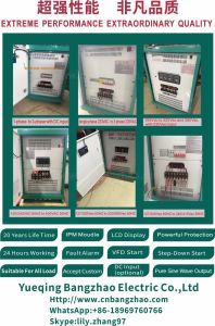 100kw Static State Frequency Converter 50Hz to 60Hz AC 380V to AC 220V pictures & photos