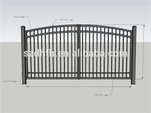 Modell Iron Gate, Ornamental Zinc Steel Gates For Garden