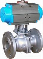 Double Acting Pneumatic Trunnion Type Ball Valve pictures & photos