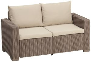 Seater Sofa - Cappuccino with Sand Cushions