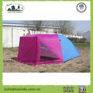 4 Person Double Layer Camping Tent with One Living Room pictures & photos