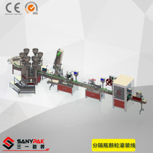 Pills/Chocolate/Candy Granule Auto Filling Labeling Packing Line