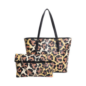 Leopard Print Elegant Style Women Tote Bag (MBNO042052) pictures & photos