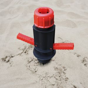 Easy Folded Light Weight Portable Beach Umbrella Sand Anchor Auger