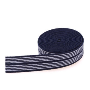 Thin Blue Colored Dacron/Nylon/Cotton Strap Elastic for Climbing pictures & photos