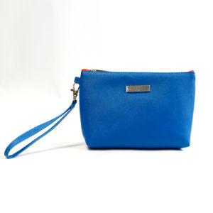 Blue Genuine Leather Wash Bag pictures & photos