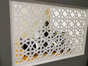 Aluminum Laser Cut Decorative Screen for Home Hotel Office Building Decoration