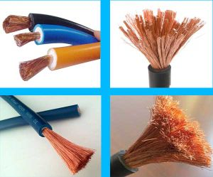 Flexible Copper Welding Cable with Rubber Jacket PVC Insulated for VDE Standard 35 Sq mm pictures & photos