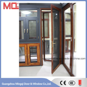 Exterior Aluminum Glass Doors with Security Steel Screen