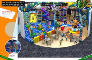 Neat Space-Themed Indoor Amusement Park Equipment Set with Children Toy
