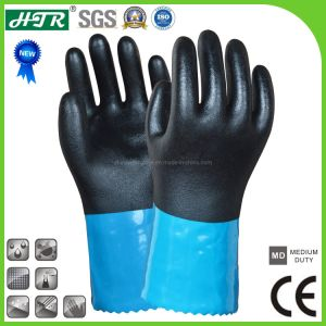 PVC Oil-Proof Chemical Resistant Safety Work Gloves with NBR Coating